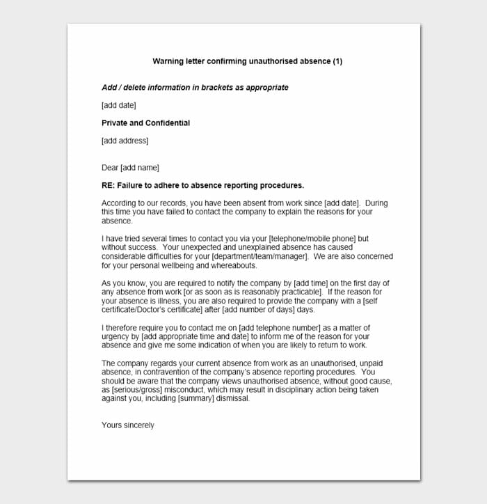 Employee Disciplinary Letter 3