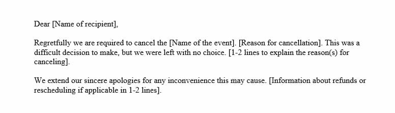Event Cancellation Email (Word Template)