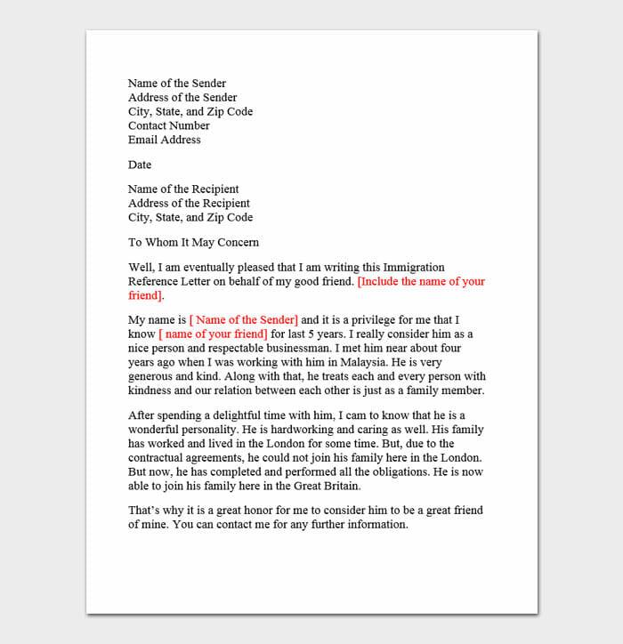 Immigration Letter 1