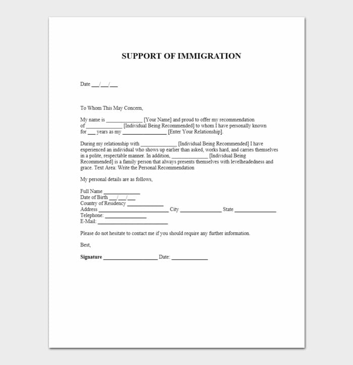 Immigration Letter 2