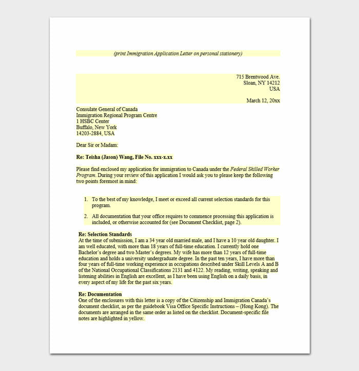 Immigration Letter 3