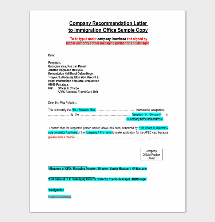Character Reference Letters For Immigration 1