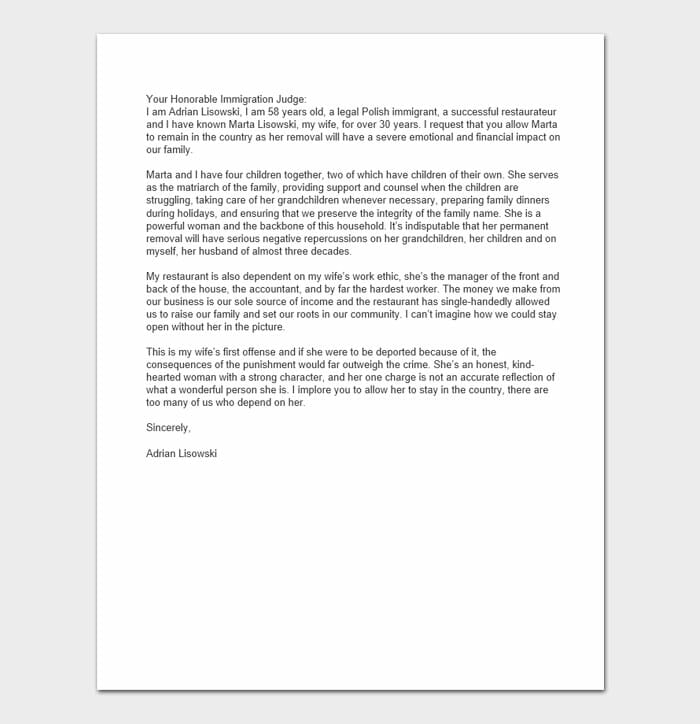 Character Reference Letters For Immigration 9
