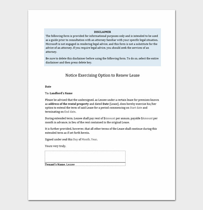 Lease Renewal Letters 2