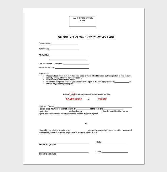 Lease Renewal Letters 3