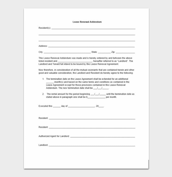 Lease Renewal Letters 5