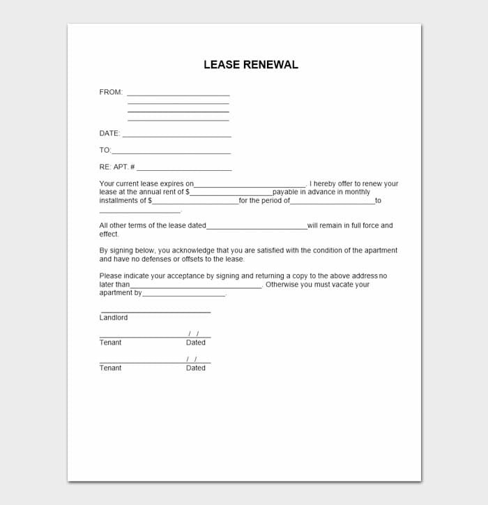 Lease Renewal Letters 6