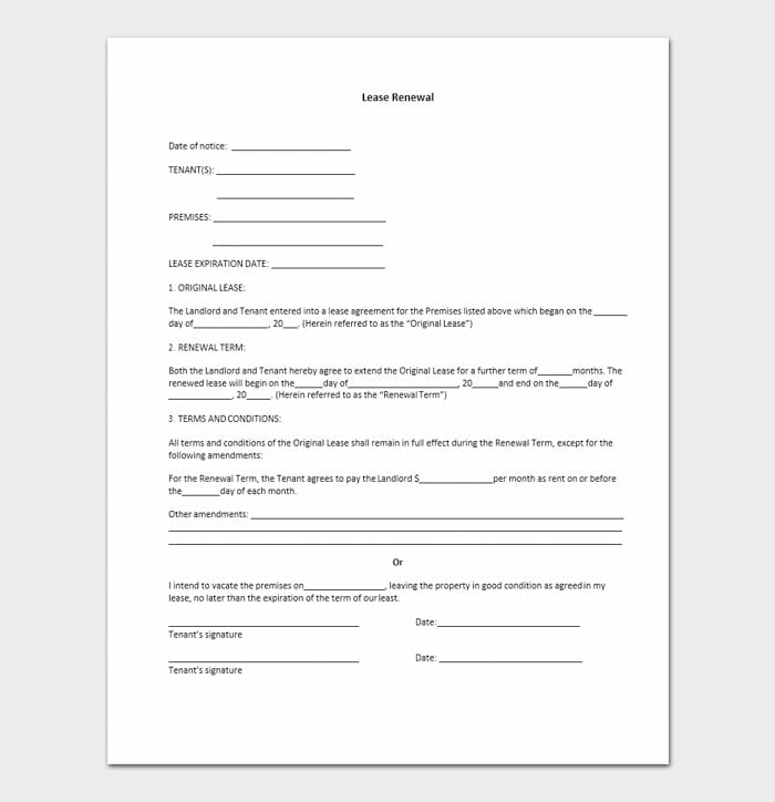 Lease Renewal Templates 2