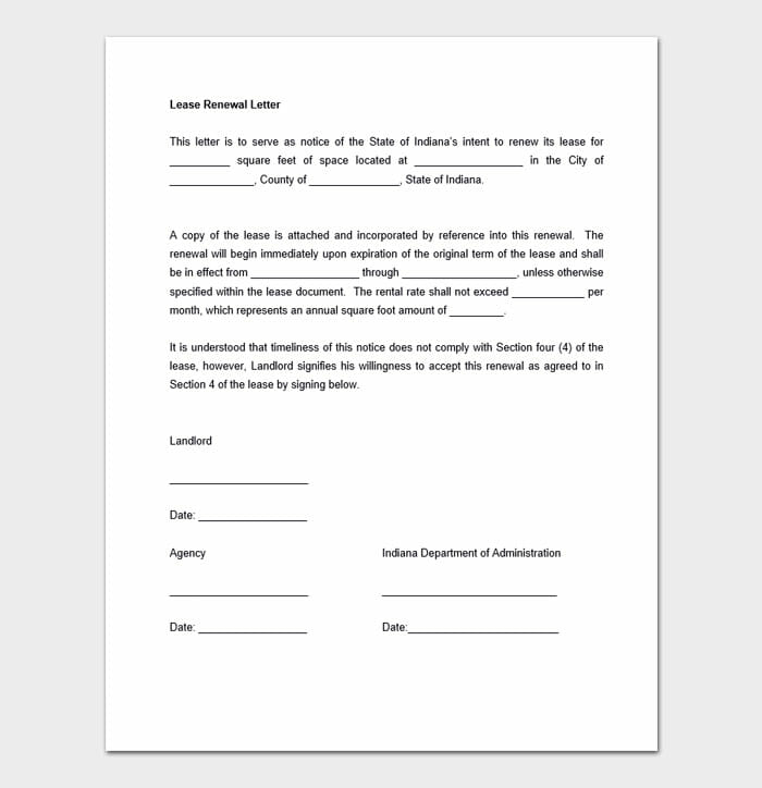 Lease Renewal Templates 3