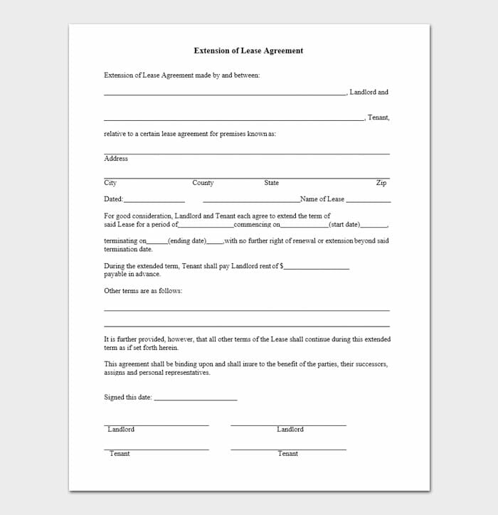 Lease Renewal Templates 4