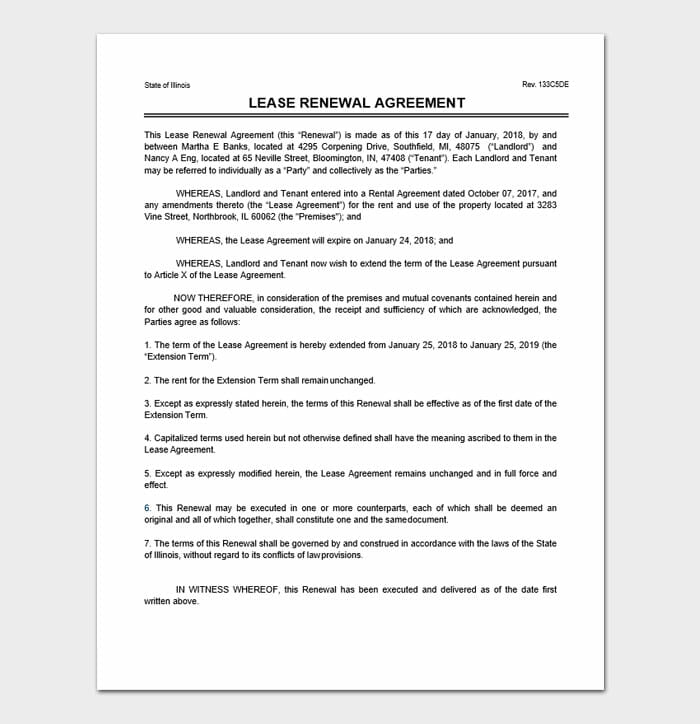 Lease Renewal Forms 4