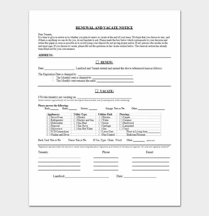 Lease Renewal Forms 5
