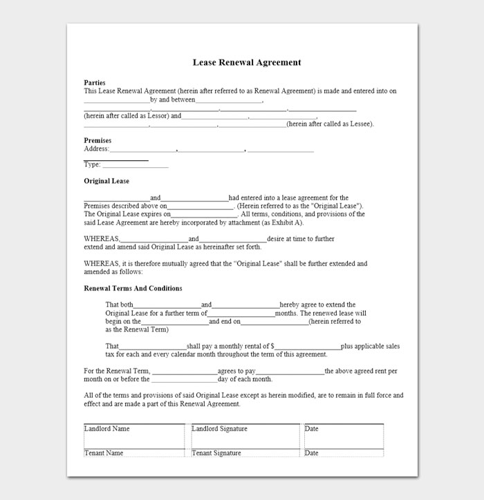 Commercial Lease Renewal Letters 3