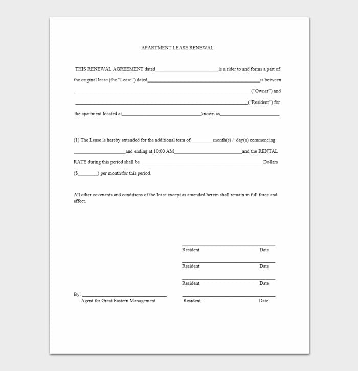 Commercial Lease Renewal Letters 7