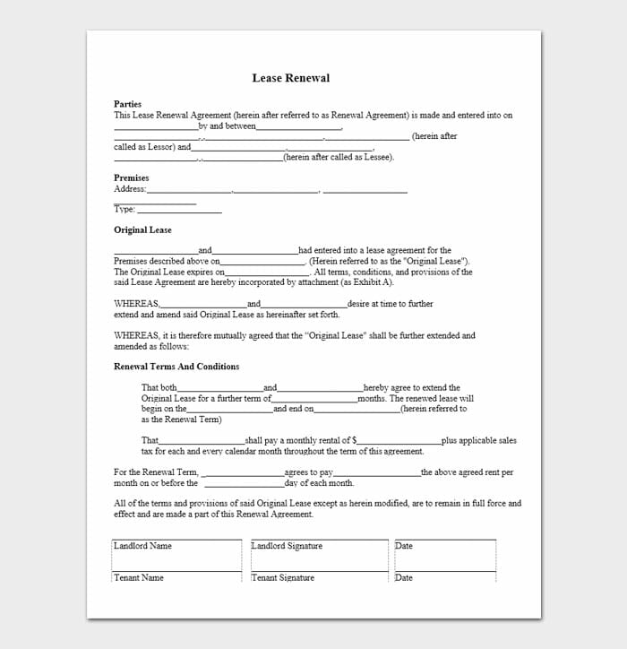 Lease Renewal Letters 9