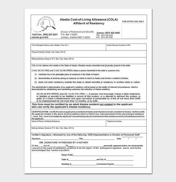 Notarized Letter of Residency 9