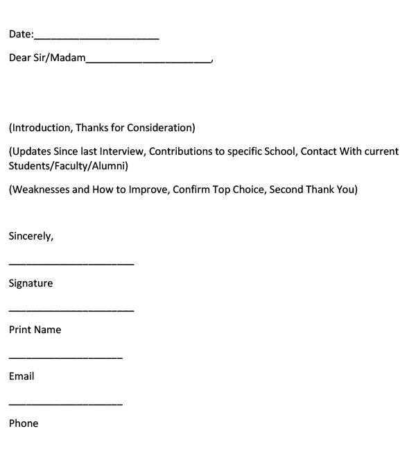Dental School Letter of Intent