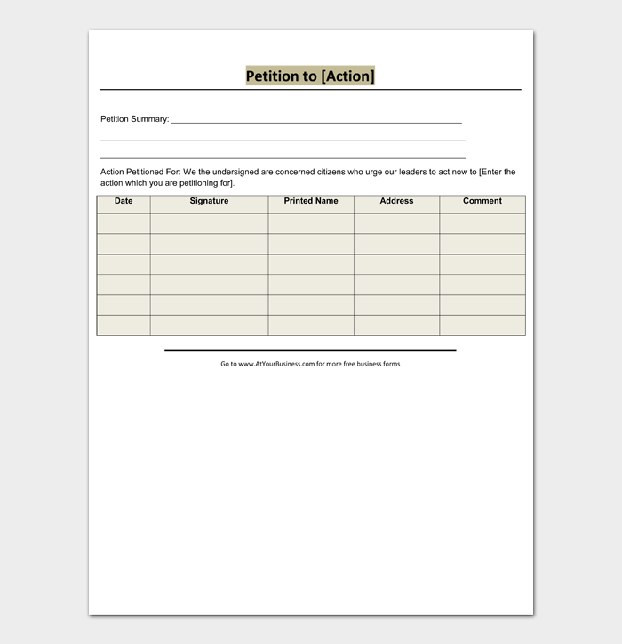 Free Petition Templates and Examples #04