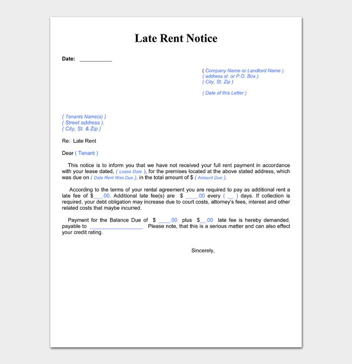 Late Rent Notice