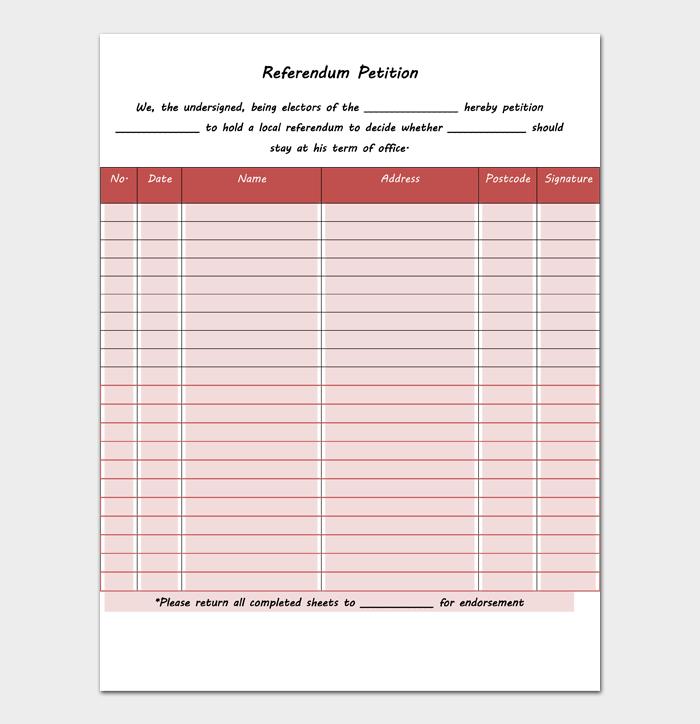 Referendum Petition