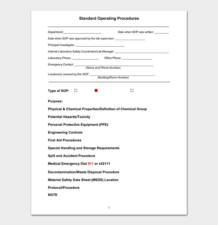 Standard Operating Procedure Examples #12