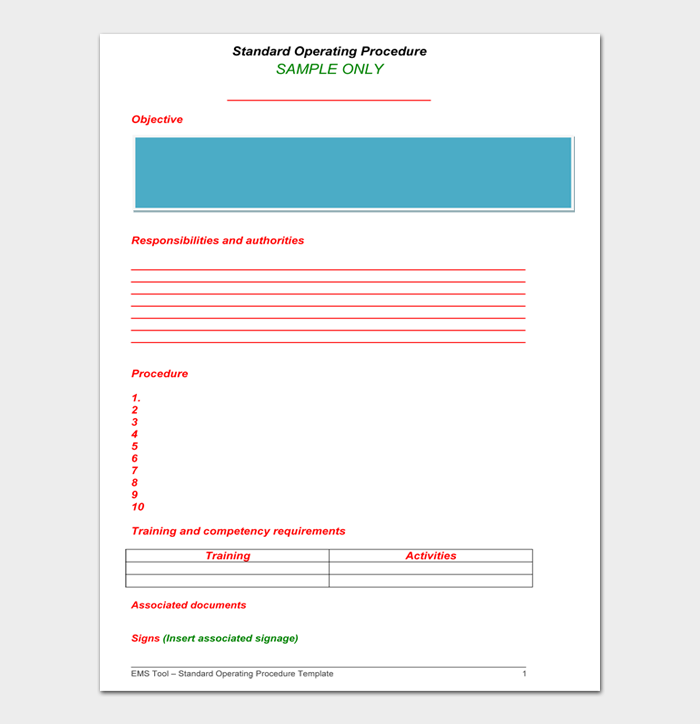 Standard Operating Procedure Examples #13