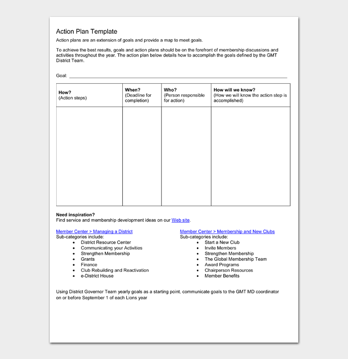 Action Plan Template #05