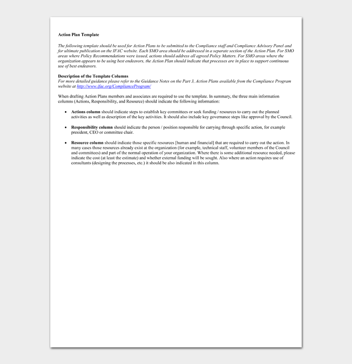 Action Plan Template #09