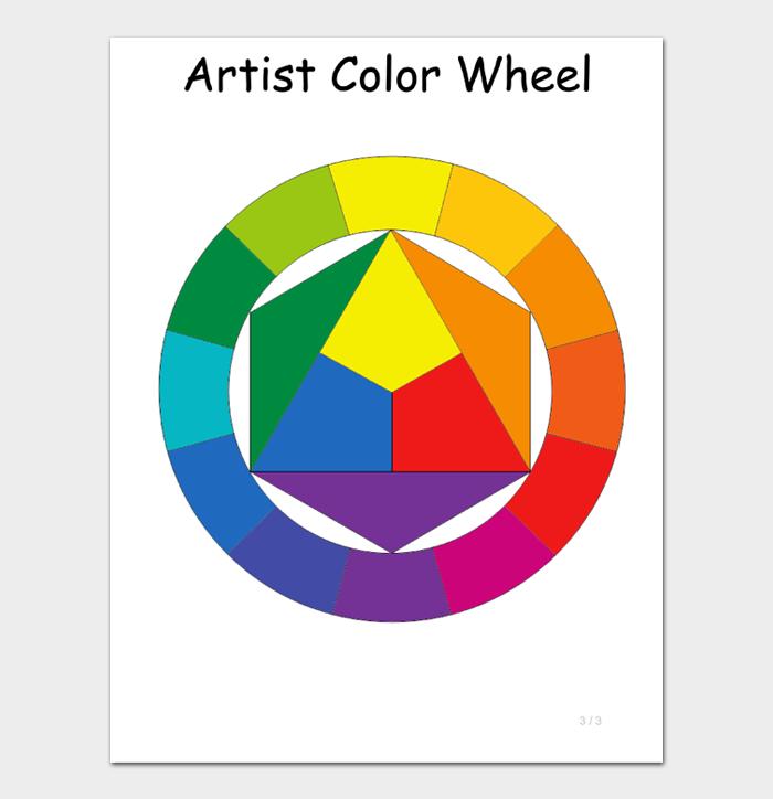 Artist Color Wheel Chart Template