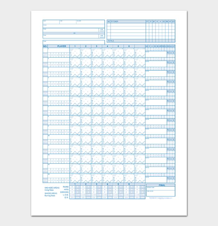 Baseball Score Sheet #01