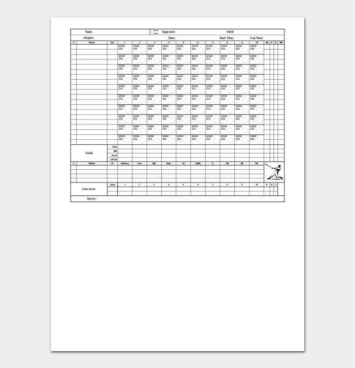 Baseball Score Sheet #06