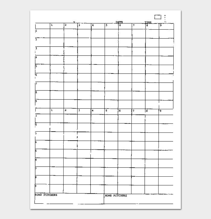 Baseball Score Sheet #13