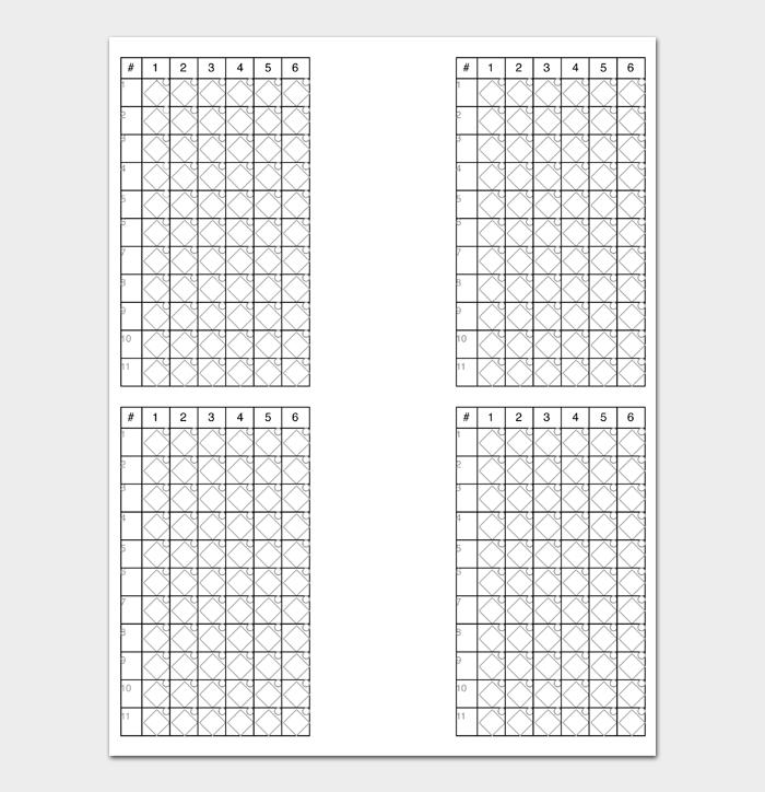 Baseball Score Sheet #17