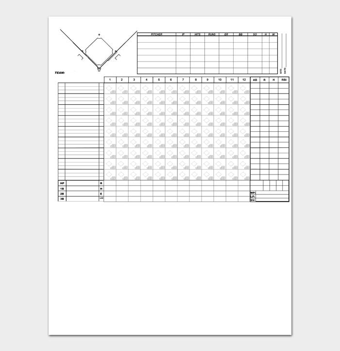 Baseball Score Sheet #19