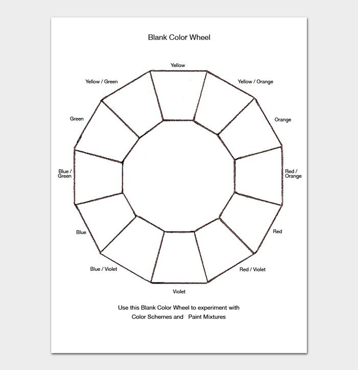 Blank Color Wheel Chart