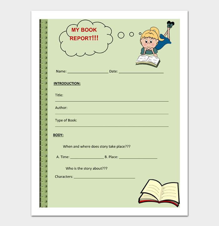 Book Report Templates #02