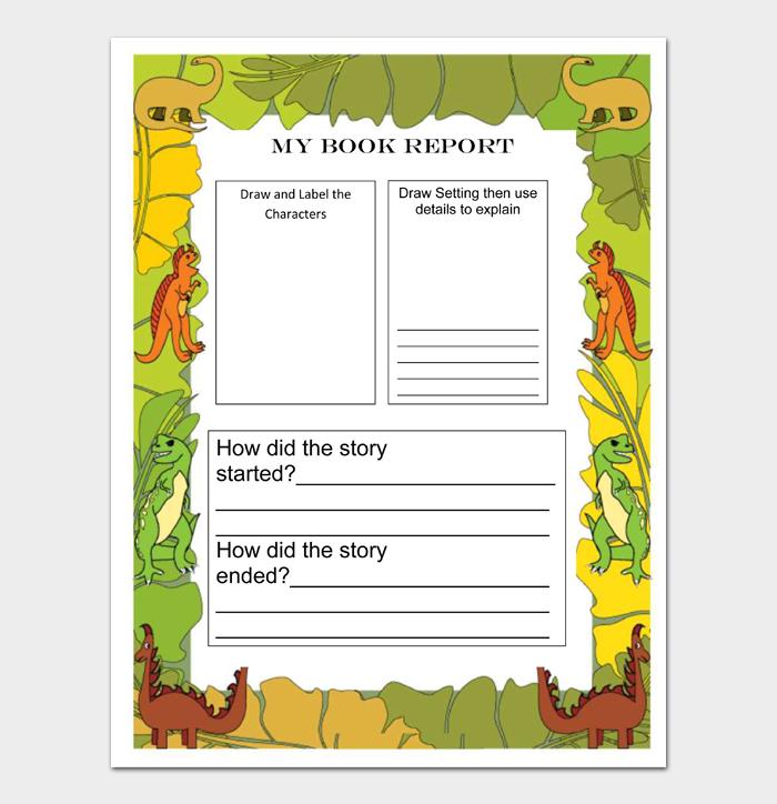 Book Report Templates #09