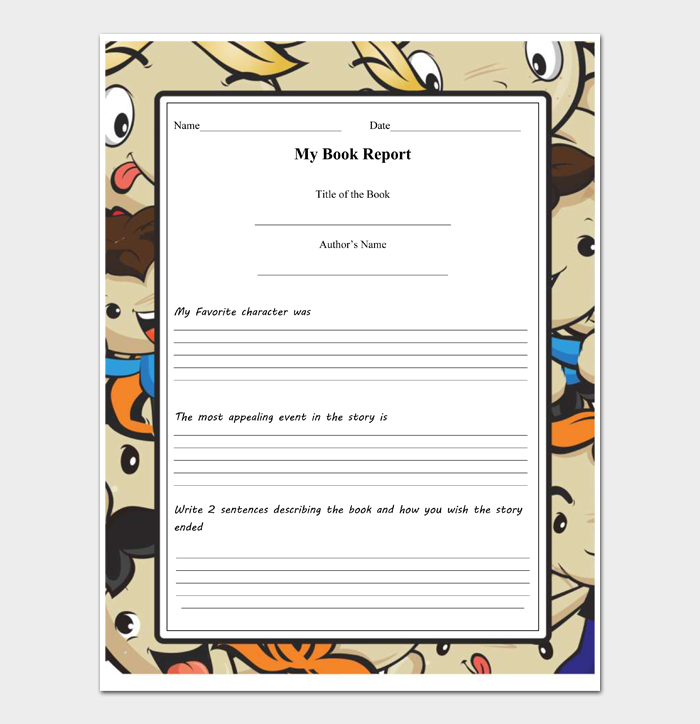 Book Report Templates #10