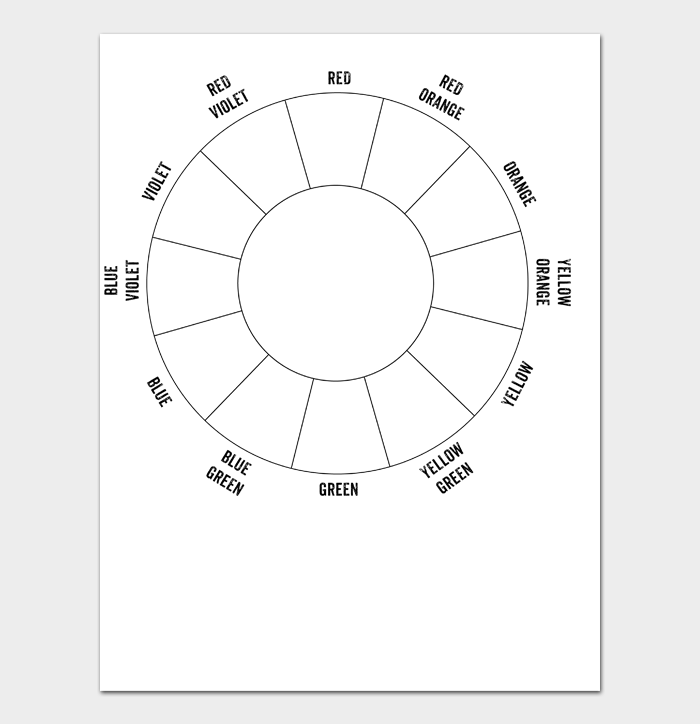 Color Wheel Chart #01