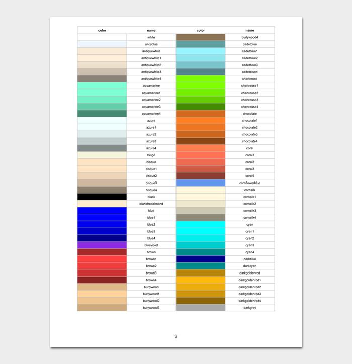 Color Wheel Chart #02