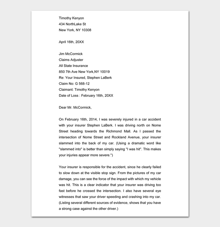 Demand Letter for Payment #01