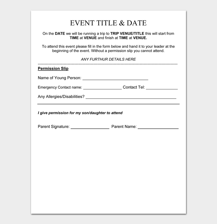 EVENT TITLE & DATE