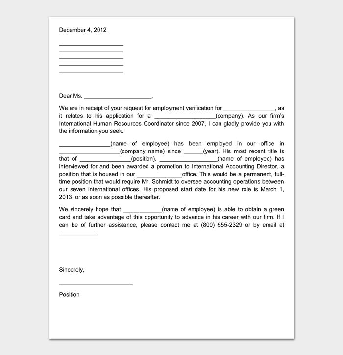 Employment Verification Letter #02