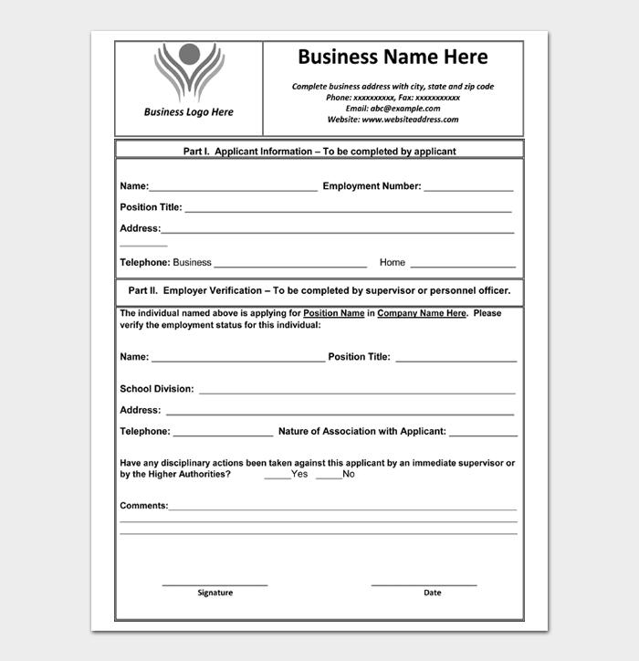 Employment Verification Letter #05