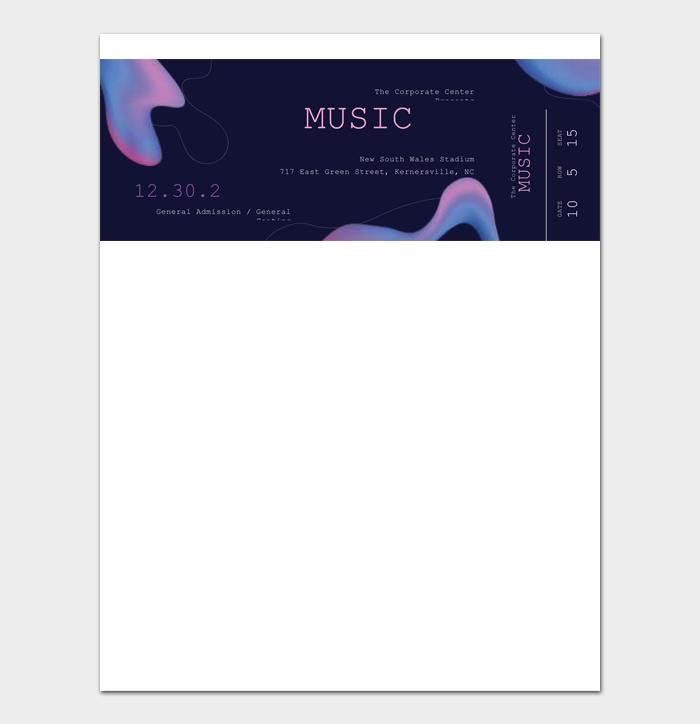 Event Ticket Templates #09