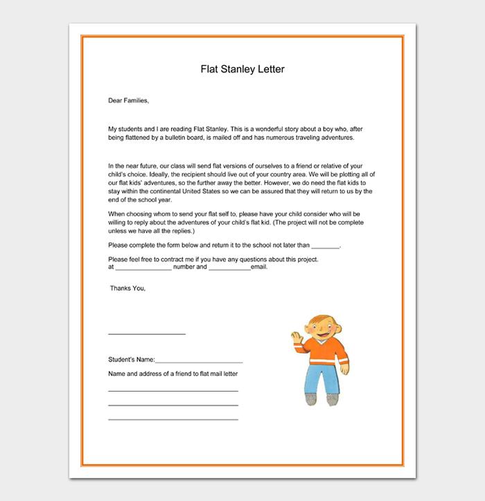 Flat Stanley Letter
