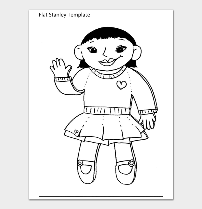 Flat Stanley Template