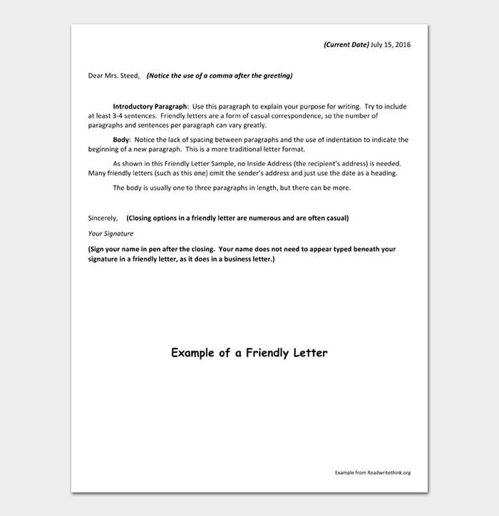 Friendly Letter #01