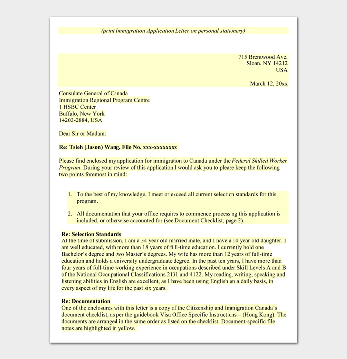 Letter of Support for Immigration #02