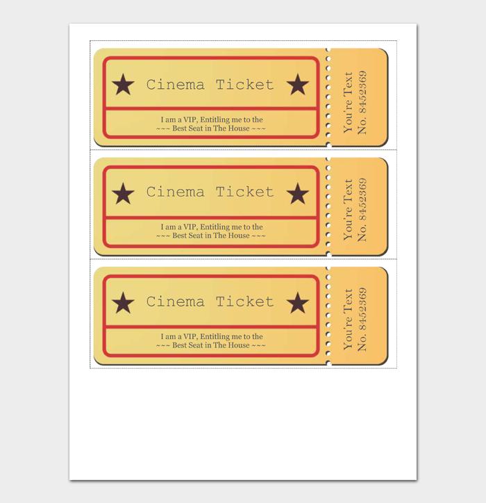 Movie Ticket Template #03